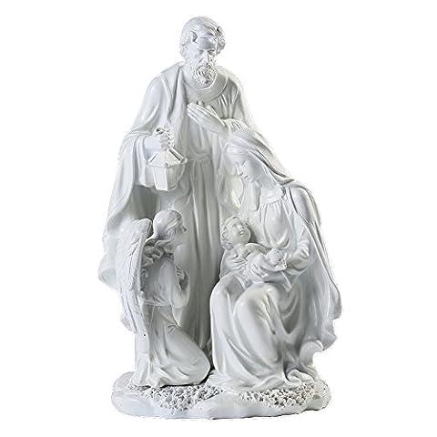 Giftgarden heilige Familie Statue christliche Deko weiß Weihnachtsdeko