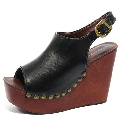 B2200 sandalo donna JEFFREY CAMPBELL scarpa zeppa borchie nero shoe woman [39]