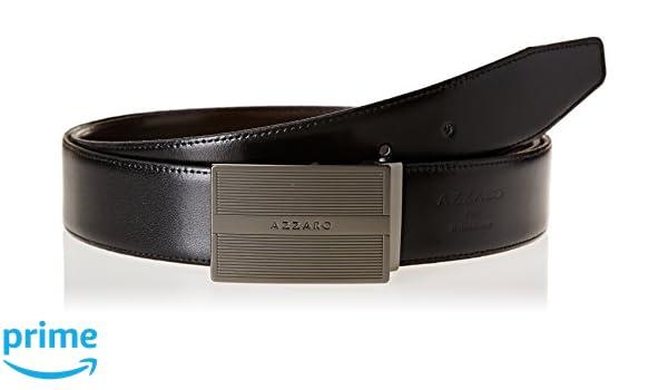c59187c99404 Azzaro Z1391345 - Ceinture - Homme - Multicolore (Noir Marron) - FR  110 cm  (Taille fabricant  110)  Amazon.fr  Vêtements et accessoires