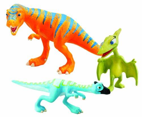 TOMY LC53051MP - Dino Zug Sammelfiguren - Boris, Oren und Mrs. Pteranodon, 3-er Pack