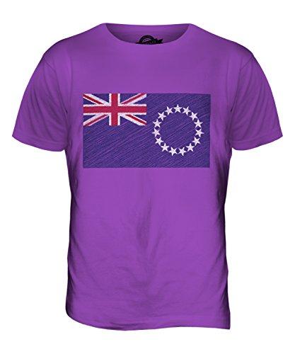 CandyMix Cookinseln Kritzelte Flagge Herren T Shirt Violett
