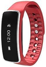Smart Wrist Band - TOOGOO(R) Smart Wrist Band Bracelet Watch Sleep Sports Fitness Activity Tracker Pedometer Colour:Red