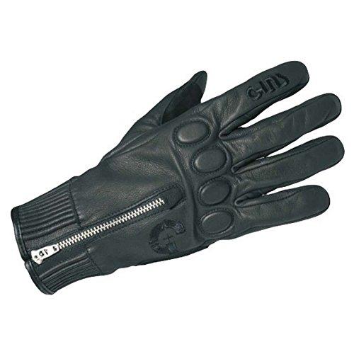Handschuhe Guns Racer Leder black Zulassung CE - Motorrad Handschuhe Indian