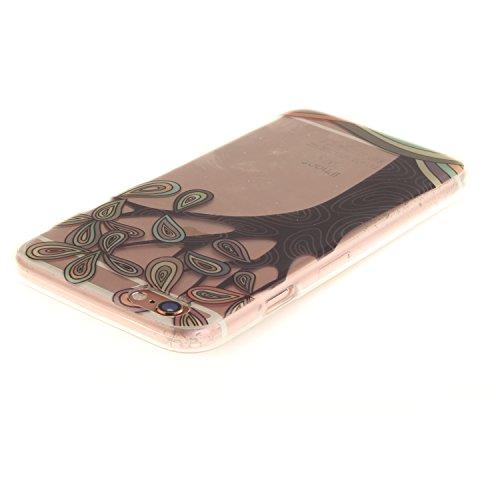 Coque iPhone 6S,Étui iPhone 6,iPhone 6S/iPhone 6 Case,ikasus® Coque iPhone 6S/iPhone 6 Silicone Étui Housse [Conception IMD et cadre en silicone TPU] Téléphone Couverture TPU Ultra Mince Premium Semi  Arbre peint à la main