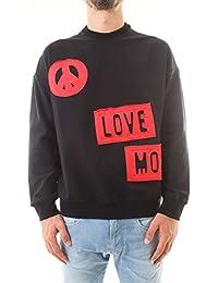 Love Moschino Uomo Maglia Felpa Giro Nero Autunno Inverno Art M6506 04  E1942 4008 A18 230b835029d