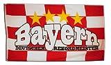 Fahne / Flagge Bayern Deutscher Rekordmeister + gratis Sticker, Flaggenfritze®