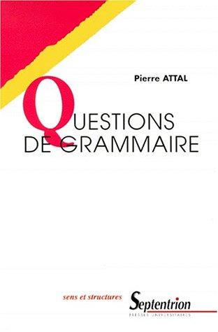 Questions de grammaire