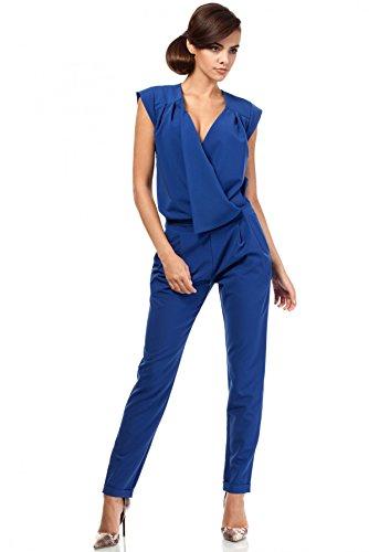 MOE Phantastischer Damen Overall , Blau (Königsblau), 36