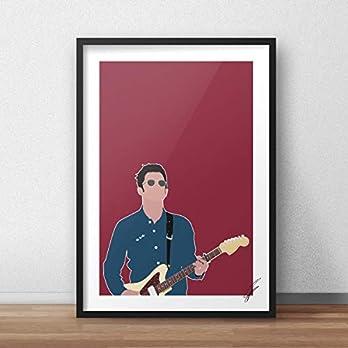 Noel Gallagher inspirierte Illustration.