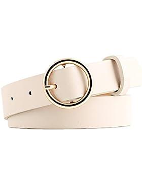 Gespout Cintura Cinturón Cintura Cinturón Cuero Piel Mujer Ropa Jeans Elásticos Deportivos Vintage Belt Regalo...