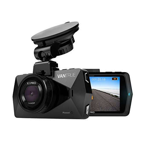 """2.5K Car Dash Cam Camera, Vantrue X1 Pro Dashcam Super HD 1440P 30fps 1080P 60fps Dashboard Cameras for Cars with 170° Wide Angle 2.7"""" LCD, HDR & Super Night Vision, G-Sensor, Parking Mode, Motion Detection,Time Lapse, Loop Recording, Audio Recording"""