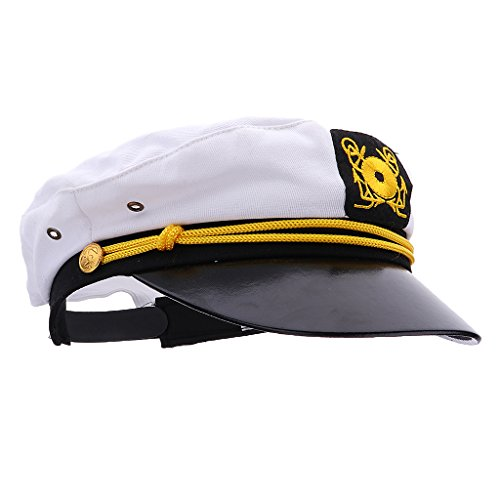 Baoblaze Kinder Kapitänsmütze Marine-Mütze Seemann Cap Kapitän Seefahrer Hut Matrosenmütze für Hallowenn Fasching Karneval Kostüm