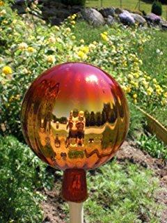 Gartenkugel (R26 mini) Rosenkugel Gartenkugeln Glas 20 cm groß (auch mit Rosenkugelstab -Gartenstecker erhältlich)