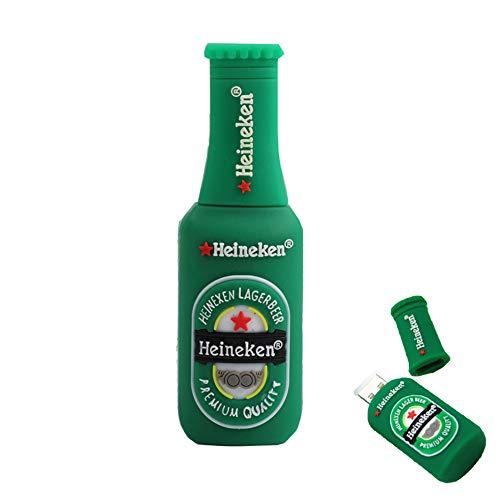 Shuda 1 pcs flash usb pen drive chiavette usb forma della bottiglia di birra 2 gb/4 gb/8 gb/16 gb/32 gb black friday 2018 size 4gb (verde)