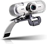 papalook Webcam 1080P, PA452 de Alta Definición con Micrófono con Gran Apertura Compatible con Skype, MSN, Fac