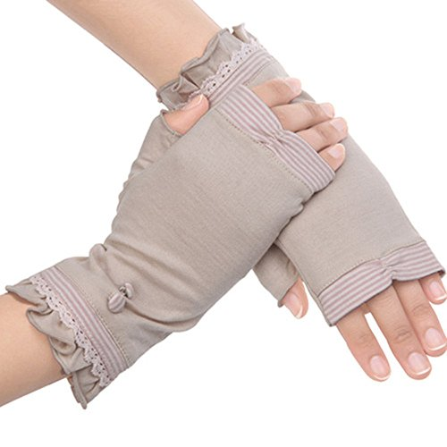 Kenmont Sommer-Frauen-Sun UV-Schutz im Freien 100% Baumwolle Driving Handschuhe Fäustlinge, Pink, Eine Größe