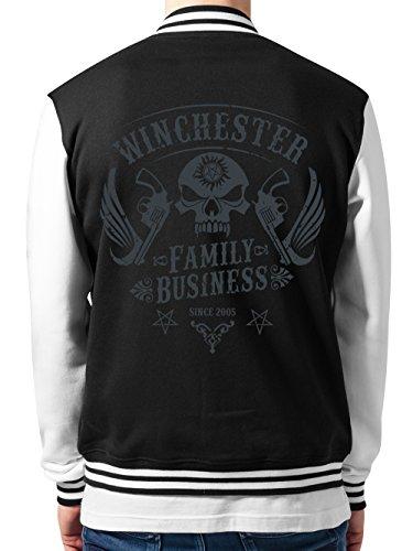 clothinx Collegejacke Unisex Winchester Family Business Schwarz Gr. L