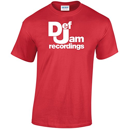 Inspiriert DEF JAM Records T-Shirt Rot - Rot