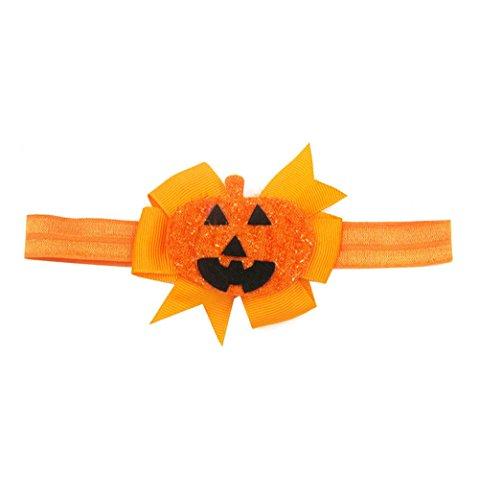 UJUNAOR Baby Kinder Mädchen Kürbis Haarnadel Kopfschmuck Mode Halloween Stirnband(Orange,Einheitsgröße)