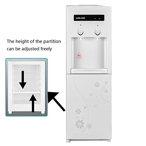 DLT Top Loading Water Cooler Dispenser, 5 Gallonen Freistehende Wasserspender, Warmes Und Kaltes Wasser Und Raumtemperatur, 3 Temperatureinstellungen, Edelstahl, Weiß (Wasserspender Stehen)