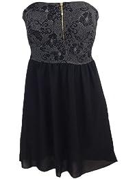 Kleid Cocktail Kleid mit Chiffon-Rock, Made in Italy, gefüttert, Rückenteil gesmokt, goldfarbener Reißverschluß vorne, Brustteil gefüttert, One Size/ geeignet bis Grösse 38,ca. 70 cm lang
