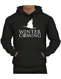Serien Herren Kapuzenpullover Wolf Winter Is Coming