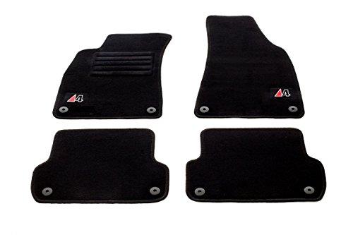 Preisvergleich Produktbild Audi A4 8E (B6/B7 Avant) Bj.2000-2007 Logo Fußmatten Set Velours
