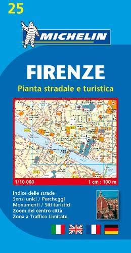 Michelin Firenze: Stadtplan 1:10.000 (MICHELIN Stadtpläne, Band 25)