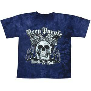 DEEP PURPLE- ROCK N ROLL PURPLE TIE DYE T-Shirt, Größe L