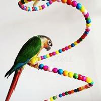 1 Meter Perlenspielzeug Holzspielzeug Vogelspielzeug Kanarien Papageien Wellensittiche