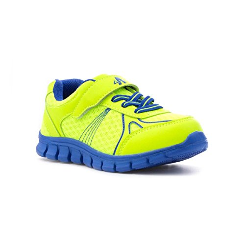 Ascot Boys Mesh Lightweight Trainer in Lime - Size 2 - Green