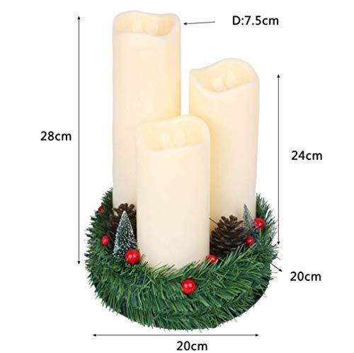 Luci di candele a led, forma di albero di natale tealight ricaricabile in plastica tremolante con dock di ricarica, decorazioni natalizie per feste (colore : -, dimensione : -)