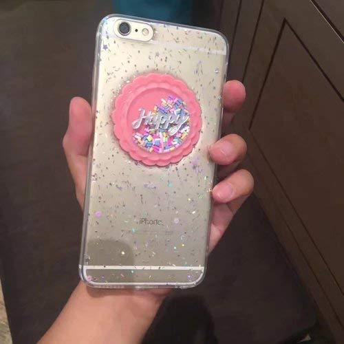 MARCU Home Epoxy Glitter iphone7 Handy Shell Pailletten Kuchen Apfel 6S / I7plus Lanyard transparente Softshell (Color : 1-6/6S)
