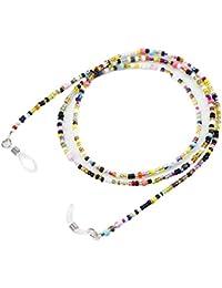 Forepin® Correa para Gafas Correa de Cadena de Perlas para Gafas de Lectura, Sportglasses y Gafas de Sol (65cm)
