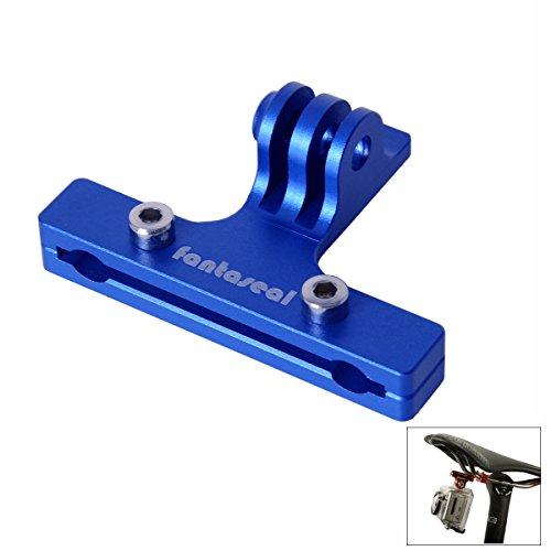 Fantaseal Fahrradhalterung Aluminiumlegierung Fahrradhalterung Action Kamera 2 Schienen Sattel Fahrradsitz Halterung Kompatibel für GoPro Sitzschienenhalterung GoPro Fahrradhalterung -Blau