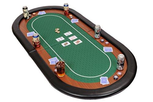 Riverboat Gaming Champion faltbare Pokerauflage mit grünem wasserabweisenden Stoff und Tasche - Pokertisch 180cm - 7