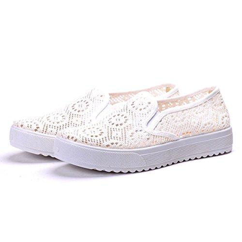 Confortable Respirant Loisirs Transpercé Chaussures Peu Profondes De La Bouche white