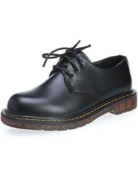 MForshop scarpe donna mocassino stringate anfibi bassi scarponcino ec pelle  9931 ab840f97338