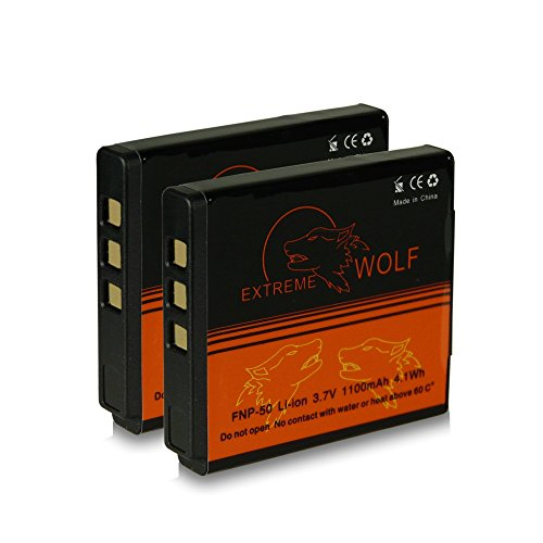Galleria fotografica 2x Power Batteria Fuji NP-50 | Kodak Klic-7004 | Pentax D-Li68 / D-Li122 per Fujifilm FinePix F70EXR / F80EXR / F200EXR / F300EXR / F500EXR / F550EXR / F600EXR y mucho más...