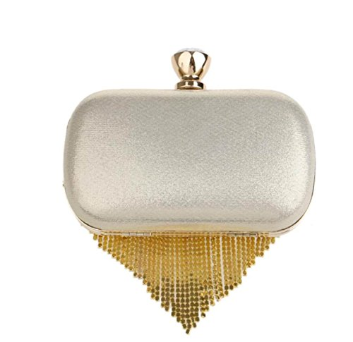 Frauen Quasten Abendtasche Diamant Clutch Wild Banquet Handtasche Für Party Hochzeit Clubs Gold