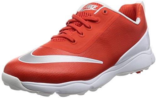 Nike Control, Chaussures de Golf Mixte Enfant, Orange (Max Orange/Metallic Silver/White), 38.5 EU
