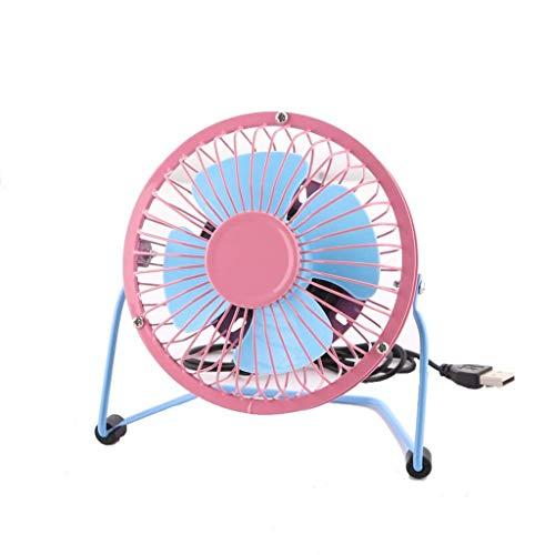 Yuany Kreative Kunststoff USB Fan 4 Zoll Mini Farbe Schreibtisch oberfläche kleine Fan schmiedeeisen Fan (Design: 1) - Schmiedeeisen Oberflächen