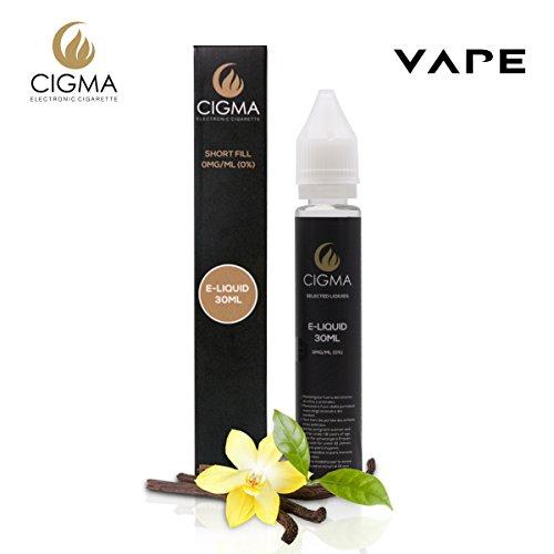Vape Unkraut (CIGMA Vanille 30ml E Liquid 0mg | Neue Kurz gefüllte Flaschen | Premium Qualitätsformel nur mit hochwertigen Zutaten | Hergestellt für elektronische Zigarette und E Shisha | Eliquid)