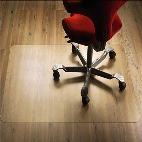 HUANXA PVC Teppich, Bodenschutzmatte Hartholzboden Transparent Kratzfest Schutzmatte Für Niedrigfloriger Teppich Computer Stuhl Bürostuhl Bürostuhl Unterlage-40x60cm(16x24inch)-Durchsichtig1.5mm -