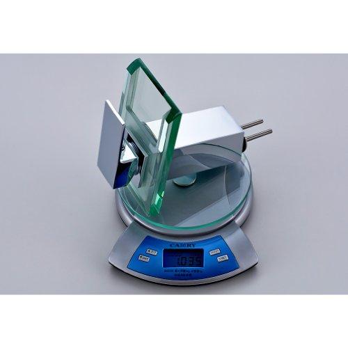 Auralum® LED RGB 3 Farbewechsel Glass Wasserhahn Chrom Wasserfall Waschtischarmatur Armatur für Bad Badenzimmer Waschbecken - 6