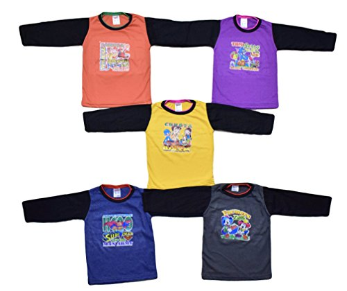 5 Full Sleeve Cotton Tshirts for Baby ...