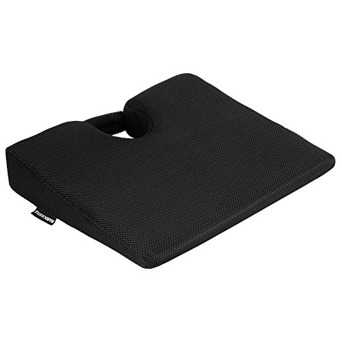 Hardcastle - cuscino/supporto a cuneo in schiuma memory - nero