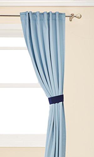Best Home Fashion isoliert Verdunklungsvorhänge–Rückseite Tab/Rod Pocket–Sky Blau–132,1cm W x 274,3cm L–(Set von 2)