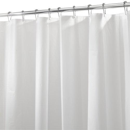 InterDesign 3.0 Liner Futter für Duschvorhang, 180,0 cm x 200,0 cm großer Vorhang aus schimmelresistentem PEVA mit zwölf Ösen, matt