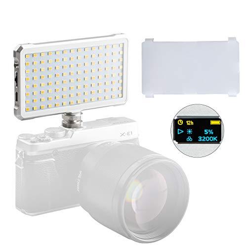 VILTROX FA-D10 LED Dimmbar Auf Kamera Mini Led Licht Panel Taschenformat LED Videolicht CRI96 + 3200-5600K Einstellbar Aluminium Körper -